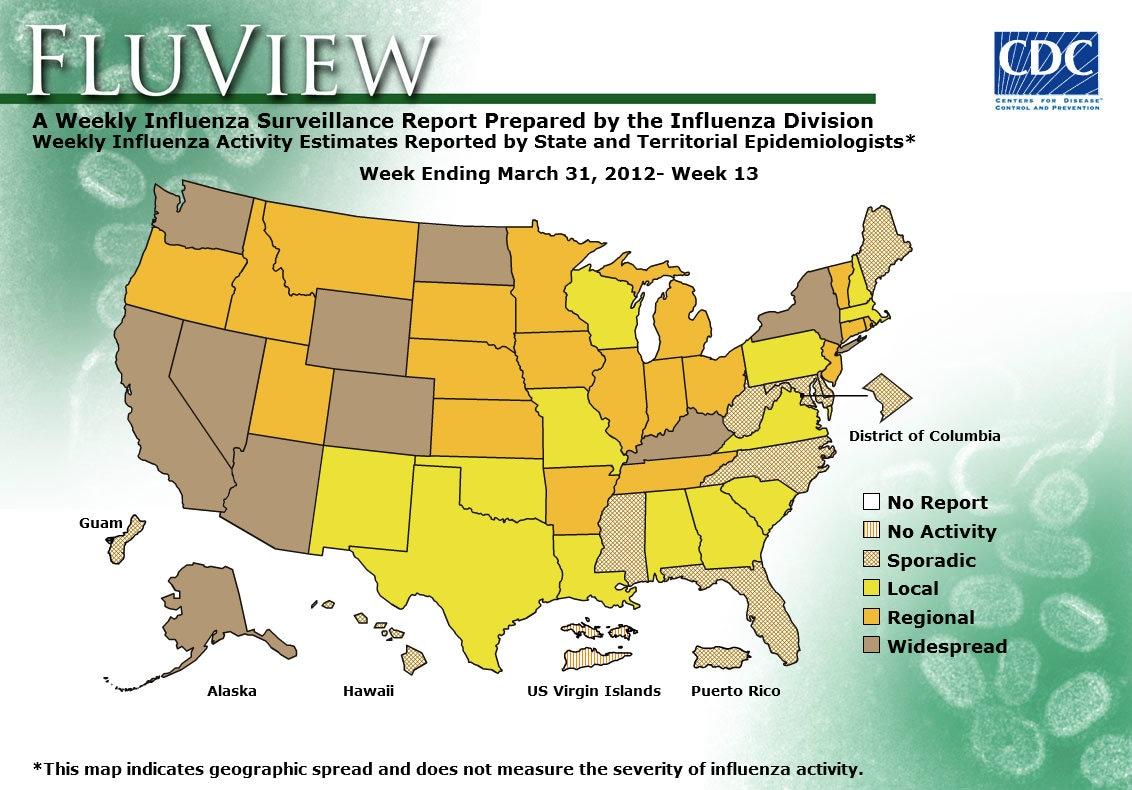 WEEK 13, 2011 FLU MAP NOT PRESENT ON SERVER