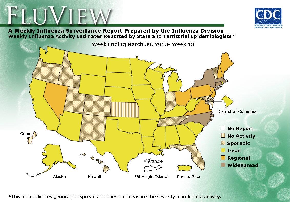 WEEK 13, 2012 FLU MAP NOT PRESENT ON SERVER