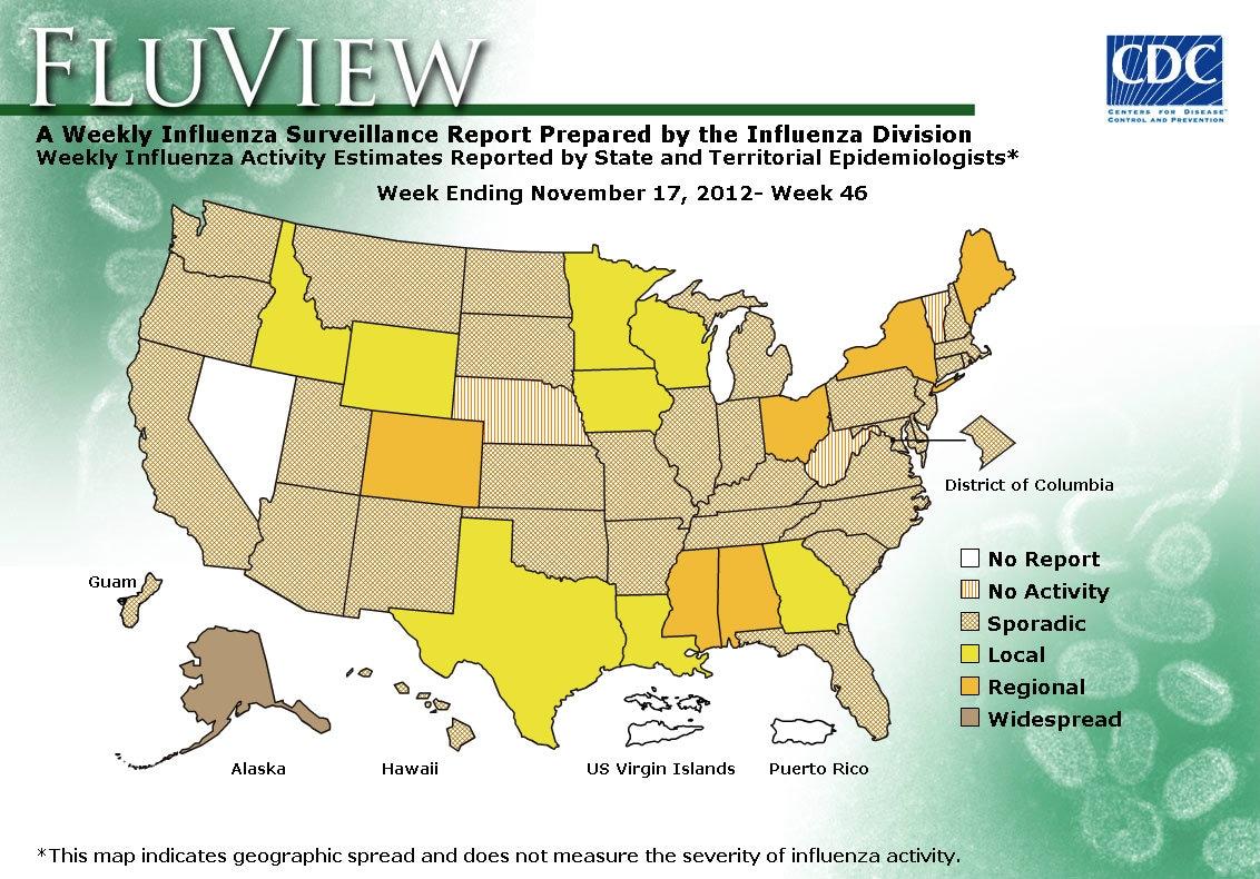 WEEK 46, 2012 FLU MAP NOT PRESENT ON SERVER