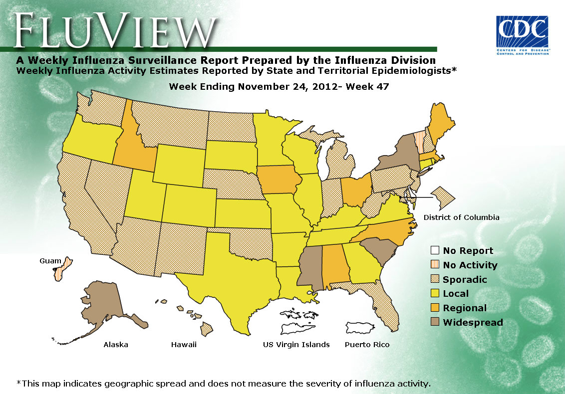 WEEK 47, 2012 FLU MAP NOT PRESENT ON SERVER