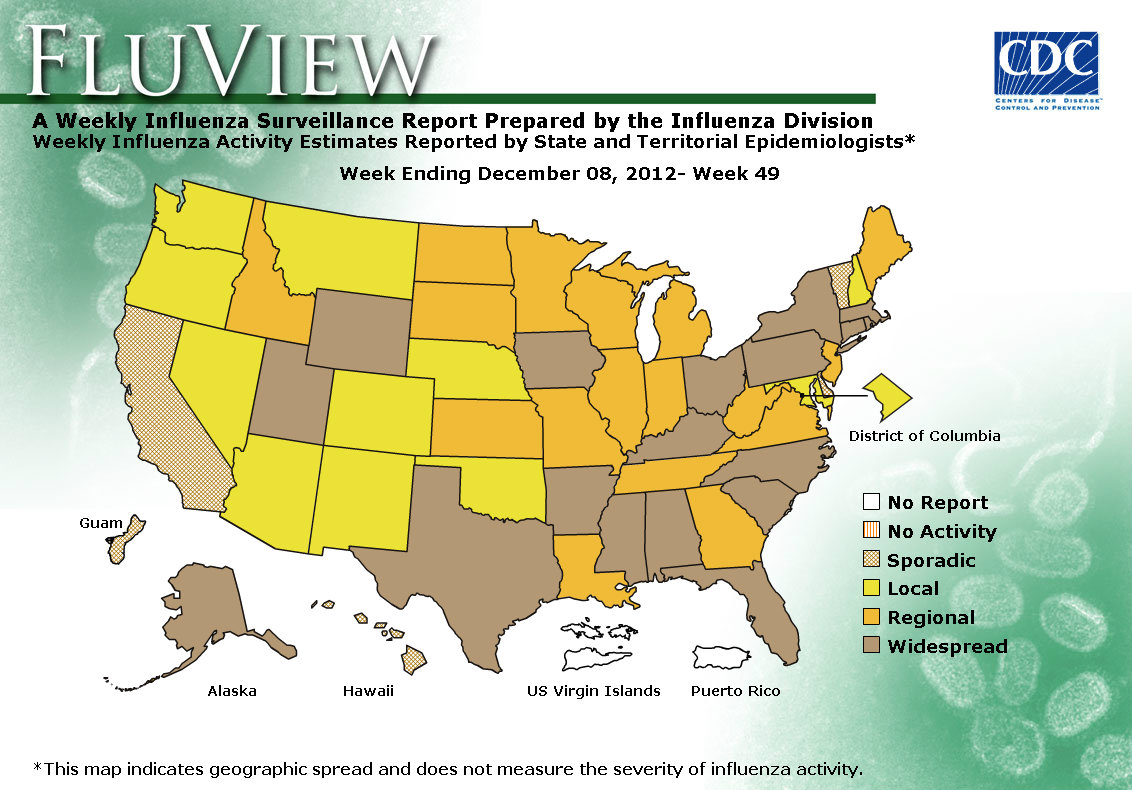 WEEK 49, 2012 FLU MAP NOT PRESENT ON SERVER