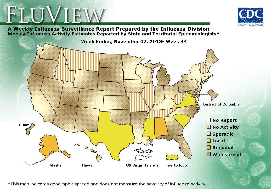 WEEK 44, 2013 FLU MAP NOT PRESENT ON SERVER