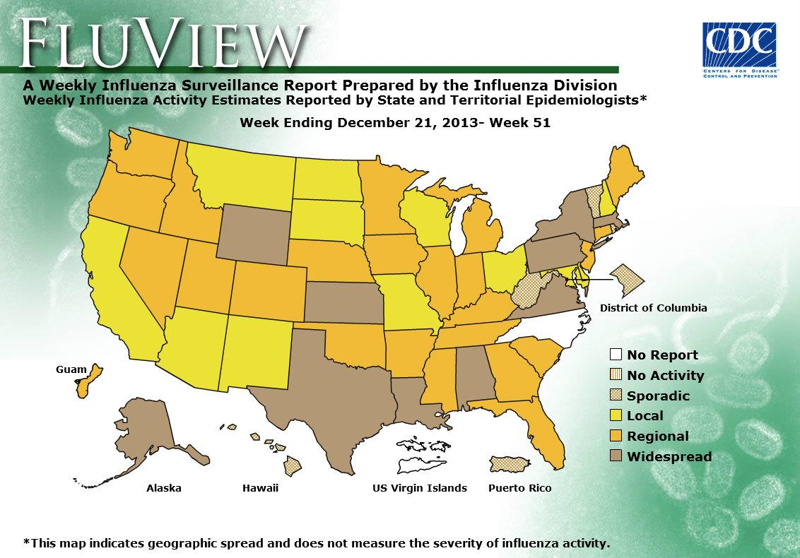 CDC Seasonal Influenza Flu Weekly Report Influenza Summary
