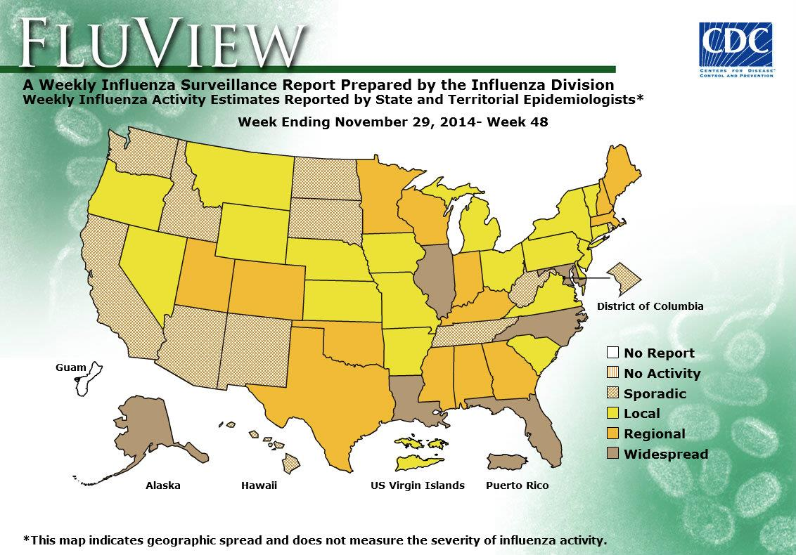 WEEK 48, 2014 FLU MAP NOT PRESENT ON SERVER