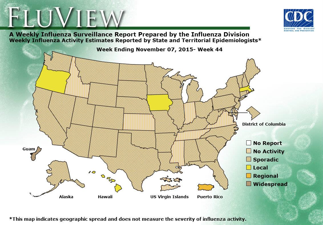WEEK 44, 2015 FLU MAP NOT PRESENT ON SERVER