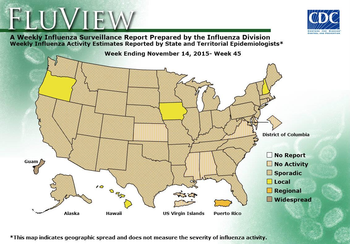 WEEK 45, 2015 FLU MAP NOT PRESENT ON SERVER