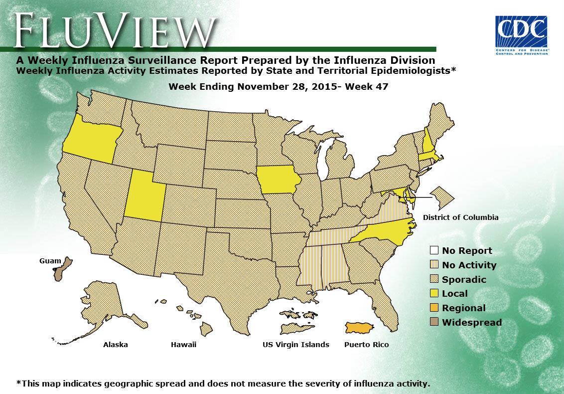 WEEK 47, 2015 FLU MAP NOT PRESENT ON SERVER