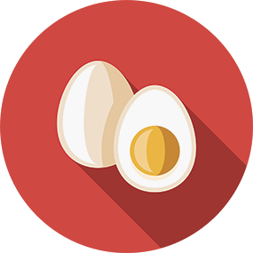 Graphic of a boiled egg