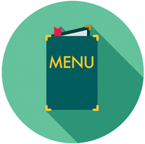 Graphic of a menu