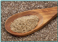 Image of chia seed and powder.