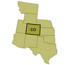 CoE states Colorado and the regions it serves.
