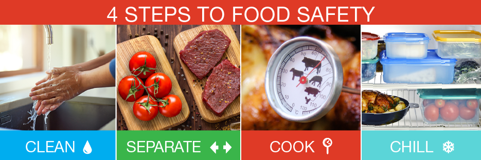 4%20steps to food safety - clean, separate, cook, chill