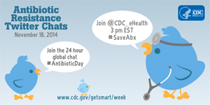 Graphic: Antibiotic Resistance Twitter Chat. November 18, 2014.