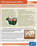 CDC and Food Safety Factsheet cover