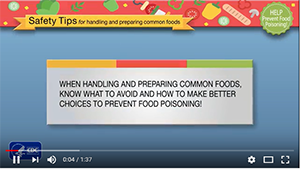 preparing common foods and foods to not eat to avoid food poisoning video