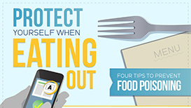 Protect Yourself WHen Eating Out Infographic