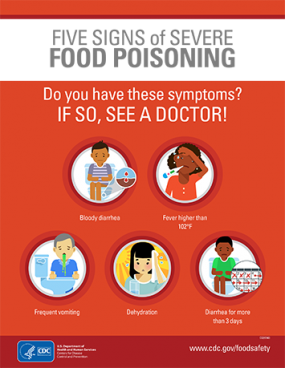 photo about Free Printable Food Safety Signs referred to as Infographics Communications Food items Basic safety CDC