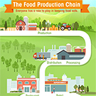 Small version of The Food Production Chain infographic