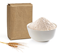 Bag and bowl of flour