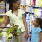 Photo: Mother and Daughter with grocery cart