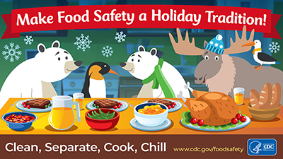 Download social media image for clean separate cook chill for food safety