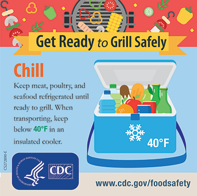 Grill Safety Chill Foods Sqaure image