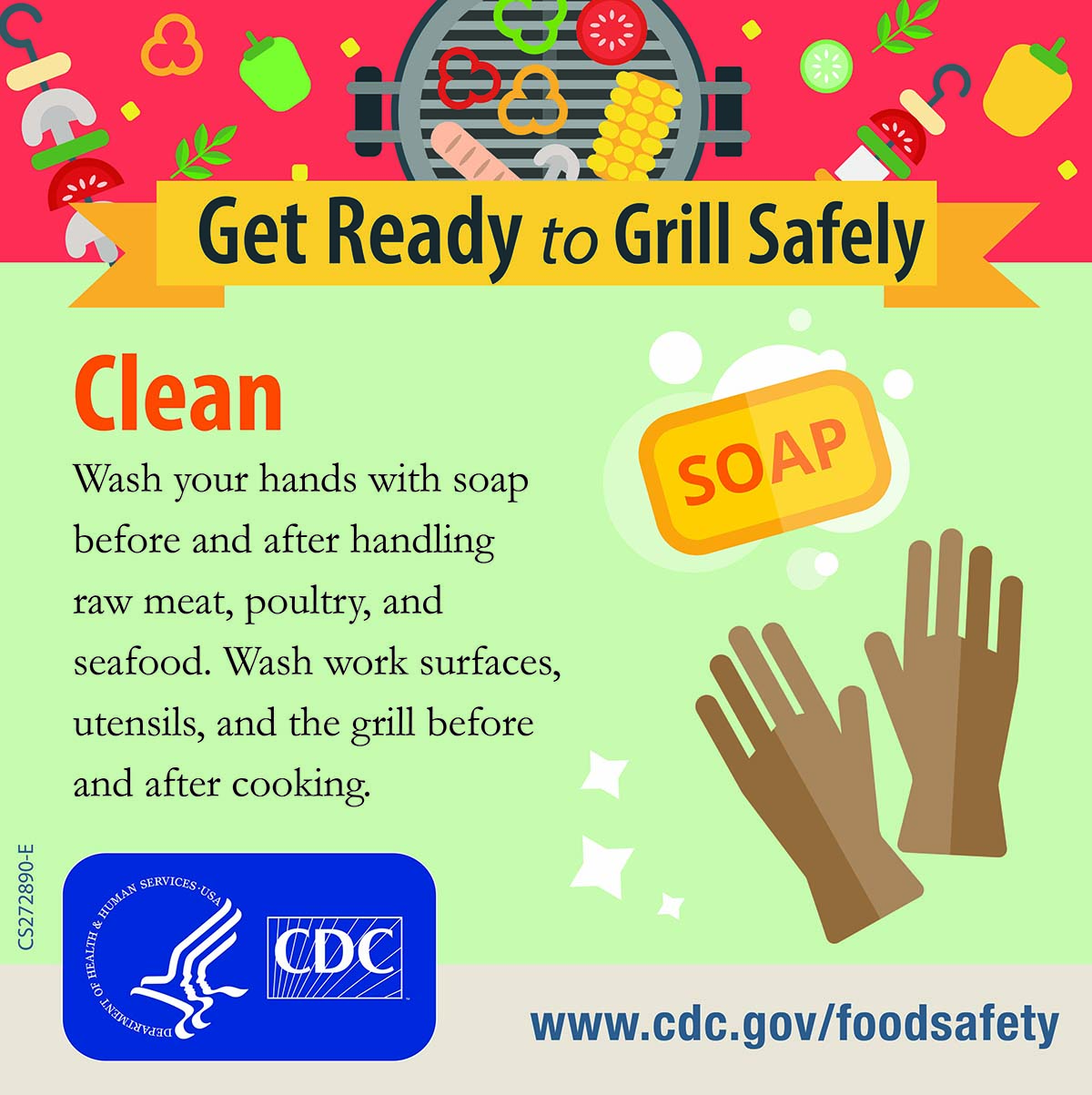 Image result for food safety steps separate grill safely