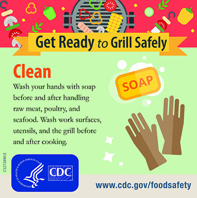 Grill Safety Clean Your Hands Twitter