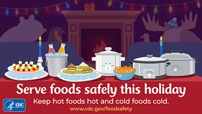 Buffet safety for cold and hot foods download social media image