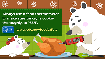 Use a food thermometer to make sure turkey is cooked thoroughly download this image for social media