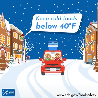 Holiday food safety twitter chat image message keep cold foods cold