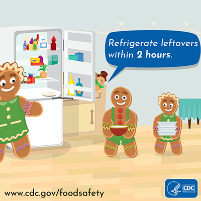 Holiday food safety twitter chat image message refrigerate leftovers
