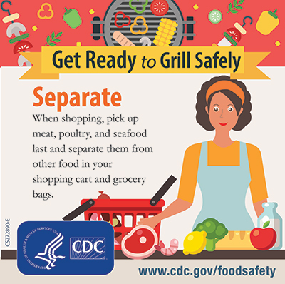 Grill Safety separate foods instagram