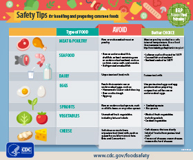 Safety tips for handling and preparing common foods PDF