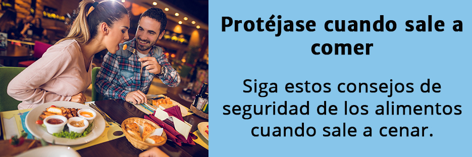 Spanish food safety eating out banner