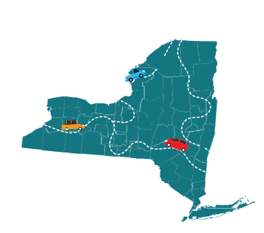 This is an illustration of the state of New York