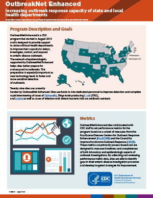Increasing Outbreak Response Capacity of State Health Departments pdf cover.