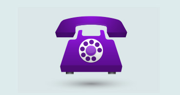 Illustration of a purple phone