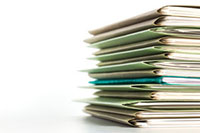 image of a stack of file folders