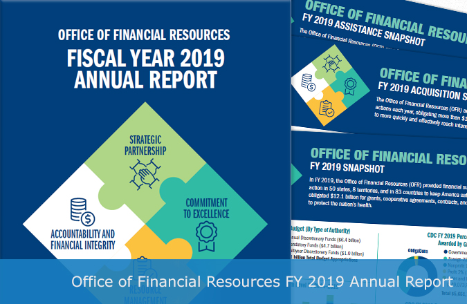 Office of Financial Resources Fiscal Year 2019 Annual Report and snapshots