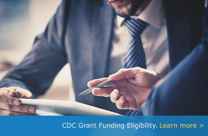 Learn more abouf CDC Grant Funding Eligibility