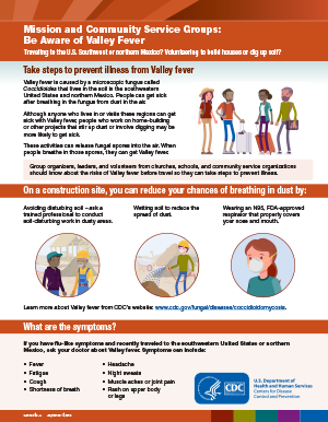 Cover image of the Be Aware of Valley Fever PDF factsheet