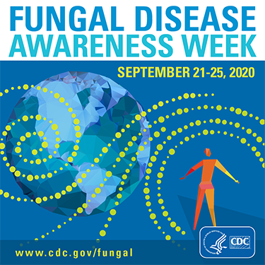 Graphics of banner for Fungal Diseasesawereness week 2020