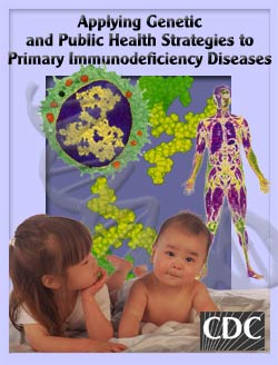 Poster image of cells and internal body scan with a baby and girl in the foreground.