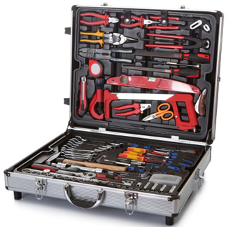 open toolbbox with tools