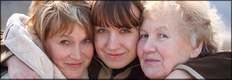 three generation of women