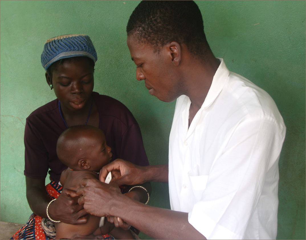 baby vaccination in Benin