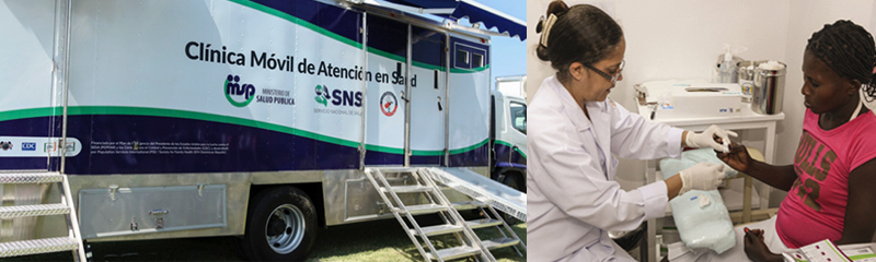 In April 2017, CDC/DR launched two mobile clinics to support the MoH to provide comprehensive health services in two cities