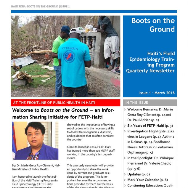 Haiti's Field Epidemiology Training Program Quarterly Newsletter