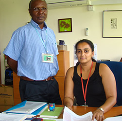 (left) Dr Simon Kariuki, (right) Dr Meghna Desai